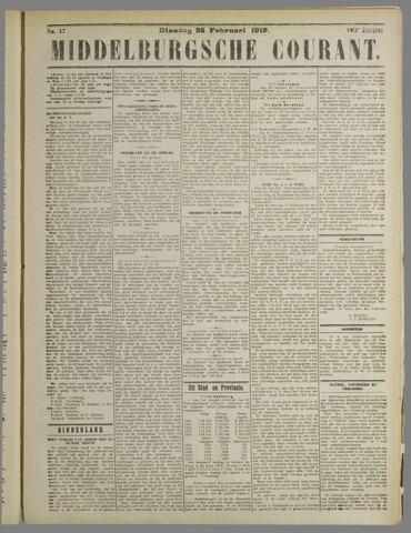 Middelburgsche Courant 1919-02-25