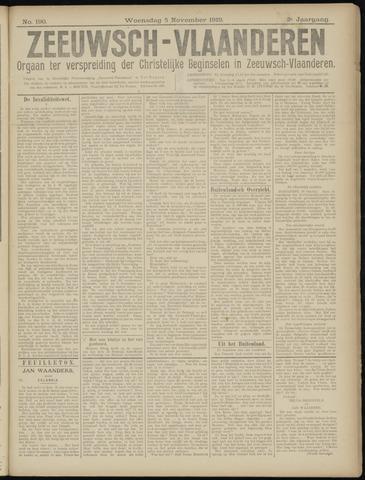 Luctor et Emergo. Antirevolutionair nieuws- en advertentieblad voor Zeeland / Zeeuwsch-Vlaanderen. Orgaan ter verspreiding van de christelijke beginselen in Zeeuwsch-Vlaanderen 1919-11-05