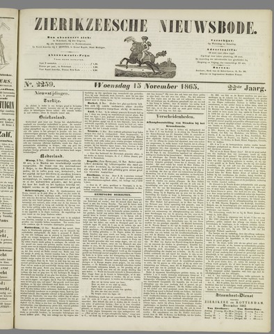 Zierikzeesche Nieuwsbode 1865-11-15