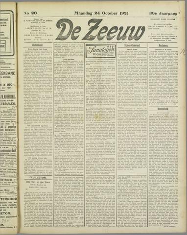 De Zeeuw. Christelijk-historisch nieuwsblad voor Zeeland 1921-10-24
