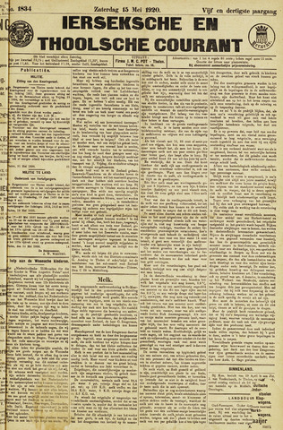 Ierseksche en Thoolsche Courant 1920-05-15
