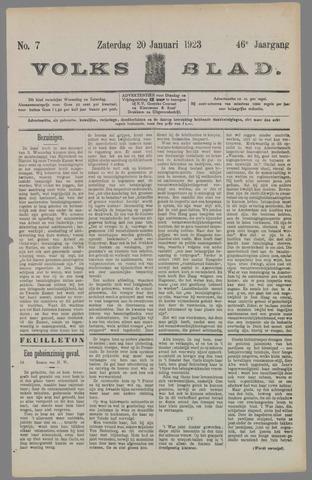 Volksblad 1923-01-20