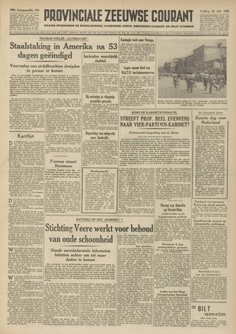 Provinciale Zeeuwse Courant 1952-07-25