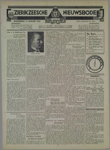 Zierikzeesche Nieuwsbode 1937-01-14