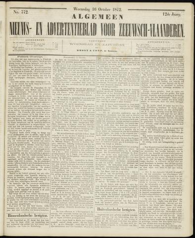 Ter Neuzensche Courant. Algemeen Nieuws- en Advertentieblad voor Zeeuwsch-Vlaanderen / Neuzensche Courant ... (idem) / (Algemeen) nieuws en advertentieblad voor Zeeuwsch-Vlaanderen 1872-10-16