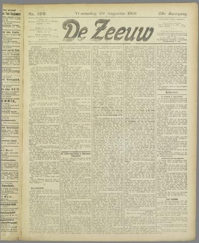 De Zeeuw. Christelijk-historisch nieuwsblad voor Zeeland 1919-08-20