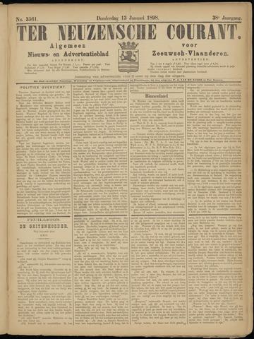 Ter Neuzensche Courant. Algemeen Nieuws- en Advertentieblad voor Zeeuwsch-Vlaanderen / Neuzensche Courant ... (idem) / (Algemeen) nieuws en advertentieblad voor Zeeuwsch-Vlaanderen 1898-01-13
