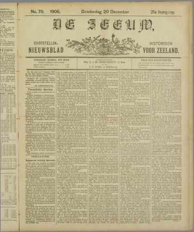 De Zeeuw. Christelijk-historisch nieuwsblad voor Zeeland 1906-12-20