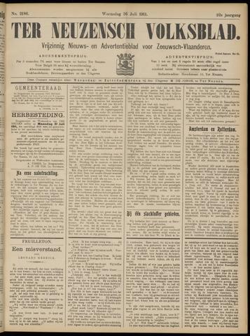 Ter Neuzensch Volksblad. Vrijzinnig nieuws- en advertentieblad voor Zeeuwsch- Vlaanderen / Zeeuwsch Nieuwsblad. Nieuws- en advertentieblad voor Zeeland 1911-07-26