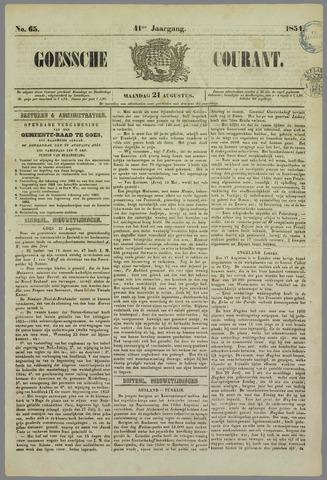 Goessche Courant 1854-08-21