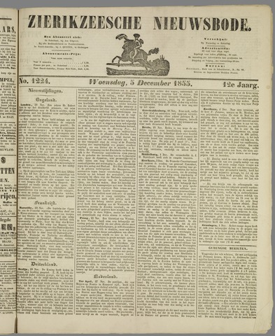 Zierikzeesche Nieuwsbode 1855-12-05