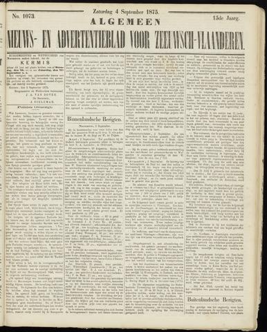 Ter Neuzensche Courant. Algemeen Nieuws- en Advertentieblad voor Zeeuwsch-Vlaanderen / Neuzensche Courant ... (idem) / (Algemeen) nieuws en advertentieblad voor Zeeuwsch-Vlaanderen 1875-09-04