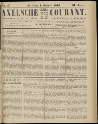 Axelsche Courant 1910-10-01