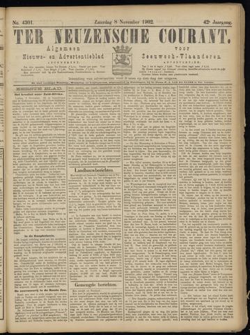 Ter Neuzensche Courant. Algemeen Nieuws- en Advertentieblad voor Zeeuwsch-Vlaanderen / Neuzensche Courant ... (idem) / (Algemeen) nieuws en advertentieblad voor Zeeuwsch-Vlaanderen 1902-11-08