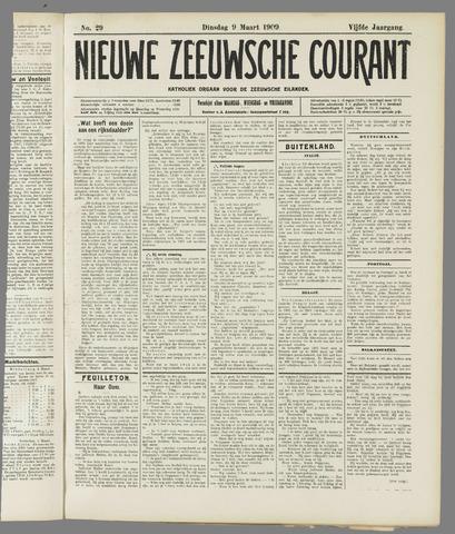 Nieuwe Zeeuwsche Courant 1909-03-09