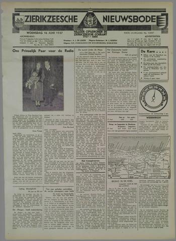 Zierikzeesche Nieuwsbode 1937-06-16