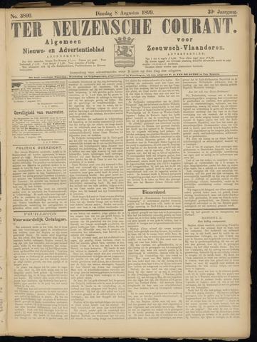 Ter Neuzensche Courant. Algemeen Nieuws- en Advertentieblad voor Zeeuwsch-Vlaanderen / Neuzensche Courant ... (idem) / (Algemeen) nieuws en advertentieblad voor Zeeuwsch-Vlaanderen 1899-08-08