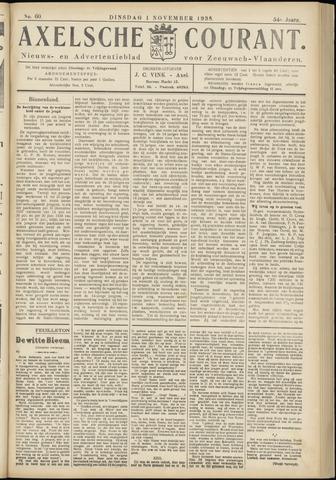 Axelsche Courant 1938-11-01