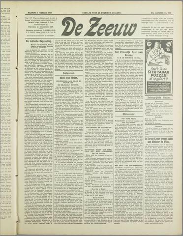 De Zeeuw. Christelijk-historisch nieuwsblad voor Zeeland 1937-02-01