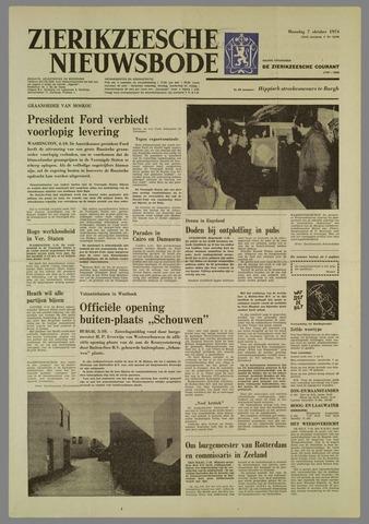 Zierikzeesche Nieuwsbode 1974-10-07