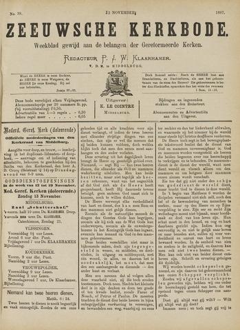 Zeeuwsche kerkbode, weekblad gewijd aan de belangen der gereformeerde kerken/ Zeeuwsch kerkblad 1887-11-12