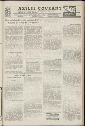 Axelsche Courant 1958-05-31