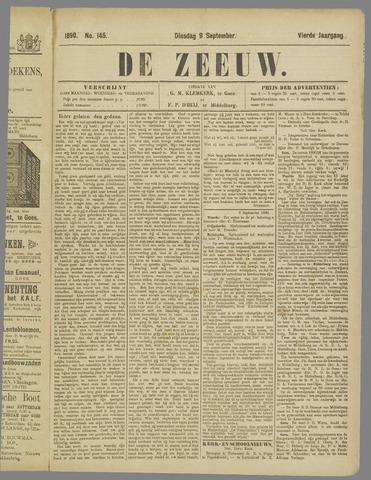 De Zeeuw. Christelijk-historisch nieuwsblad voor Zeeland 1890-09-09
