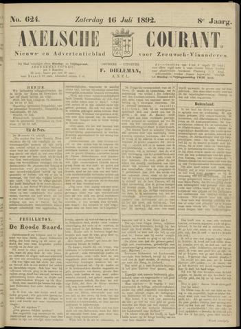 Axelsche Courant 1892-07-16