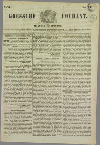 Goessche Courant 1853-10-10