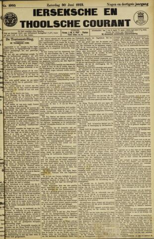 Ierseksche en Thoolsche Courant 1923-06-30