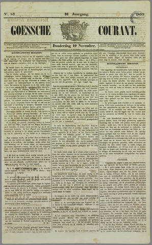 Goessche Courant 1859-11-10