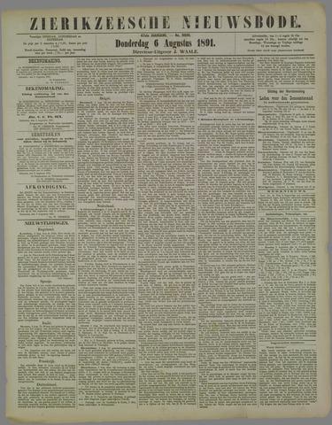 Zierikzeesche Nieuwsbode 1891-08-06