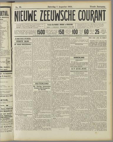 Nieuwe Zeeuwsche Courant 1914-08-01