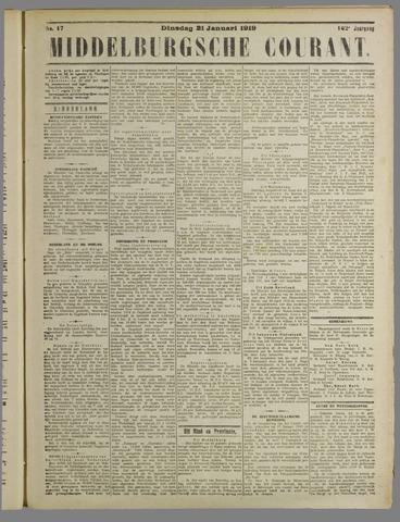 Middelburgsche Courant 1919-01-21
