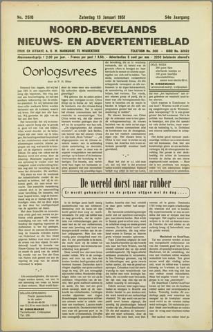 Noord-Bevelands Nieuws- en advertentieblad 1951-01-13