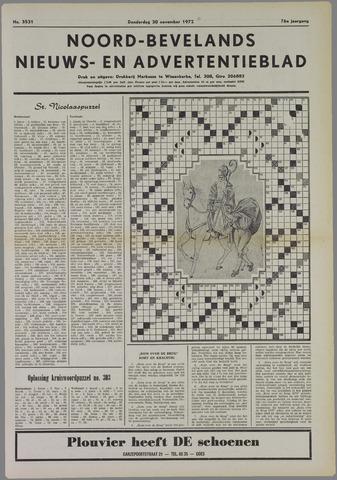 Noord-Bevelands Nieuws- en advertentieblad 1972-11-30