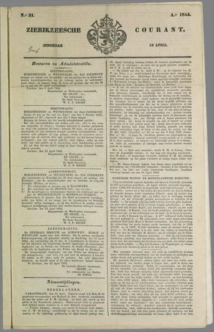 Zierikzeesche Courant 1844-04-16