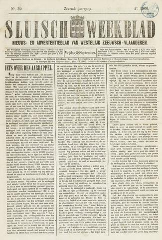 Sluisch Weekblad. Nieuws- en advertentieblad voor Westelijk Zeeuwsch-Vlaanderen 1866-09-28