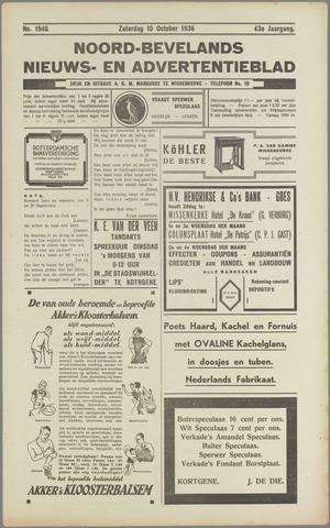 Noord-Bevelands Nieuws- en advertentieblad 1936-10-10