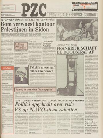 Provinciale Zeeuwse Courant 1981-09-18
