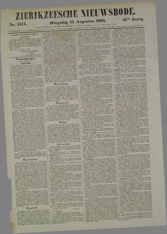 Zierikzeesche Nieuwsbode 1885-08-11