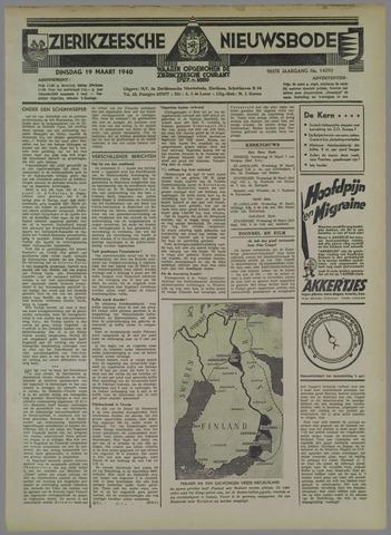 Zierikzeesche Nieuwsbode 1940-03-19