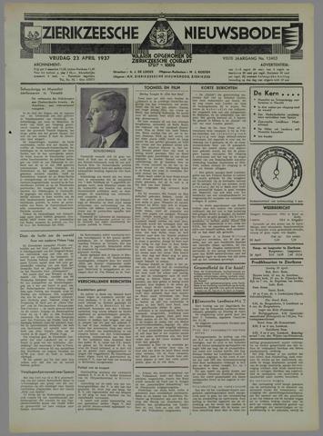 Zierikzeesche Nieuwsbode 1937-04-23