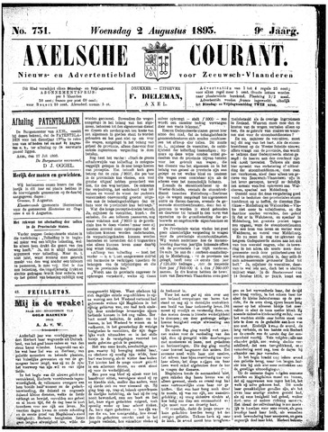 Axelsche Courant 1893-08-02