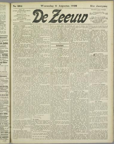 De Zeeuw. Christelijk-historisch nieuwsblad voor Zeeland 1920-08-11