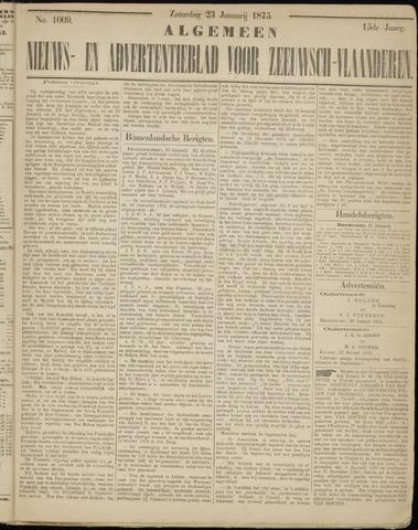 Ter Neuzensche Courant. Algemeen Nieuws- en Advertentieblad voor Zeeuwsch-Vlaanderen / Neuzensche Courant ... (idem) / (Algemeen) nieuws en advertentieblad voor Zeeuwsch-Vlaanderen 1875-01-23