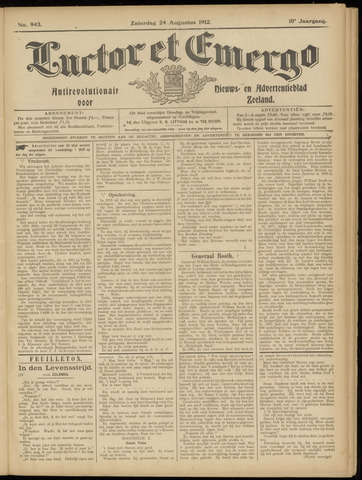 Luctor et Emergo. Antirevolutionair nieuws- en advertentieblad voor Zeeland / Zeeuwsch-Vlaanderen. Orgaan ter verspreiding van de christelijke beginselen in Zeeuwsch-Vlaanderen 1912-08-24