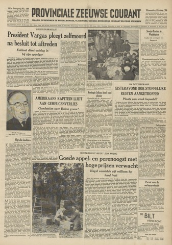 Provinciale Zeeuwse Courant 1954-08-25