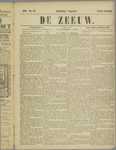 De Zeeuw. Christelijk-historisch nieuwsblad voor Zeeland 1890-08-07