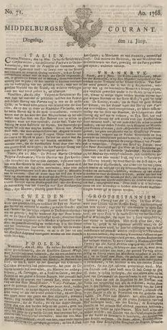 Middelburgsche Courant 1768-06-14